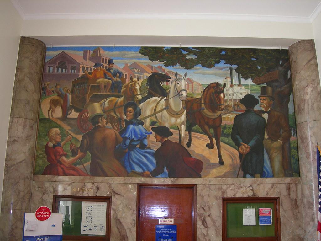 St Louis (Wellston), Missouri Mural | New Deal mural ...