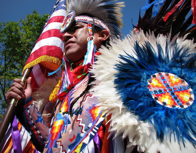 native american color guard by sandra leidholdt away