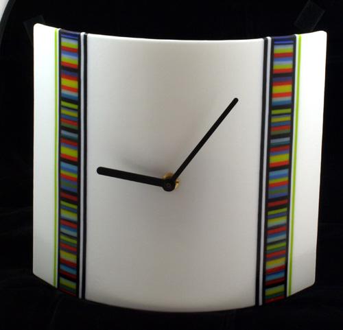 Striking Time Handmade Fused Glass Clock Gill Harrison