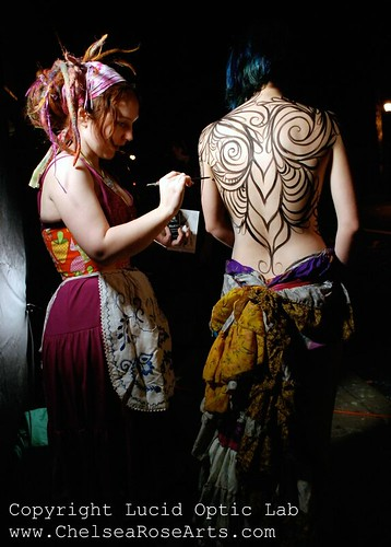 Live Body painting @ Theoria Gallery | by lucidRose
