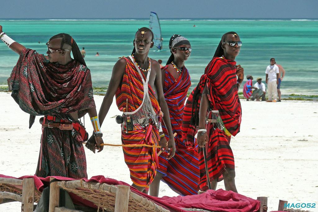 Zanzibar-Amici Masai  I Masai Hanno La Reputazione Di -7137