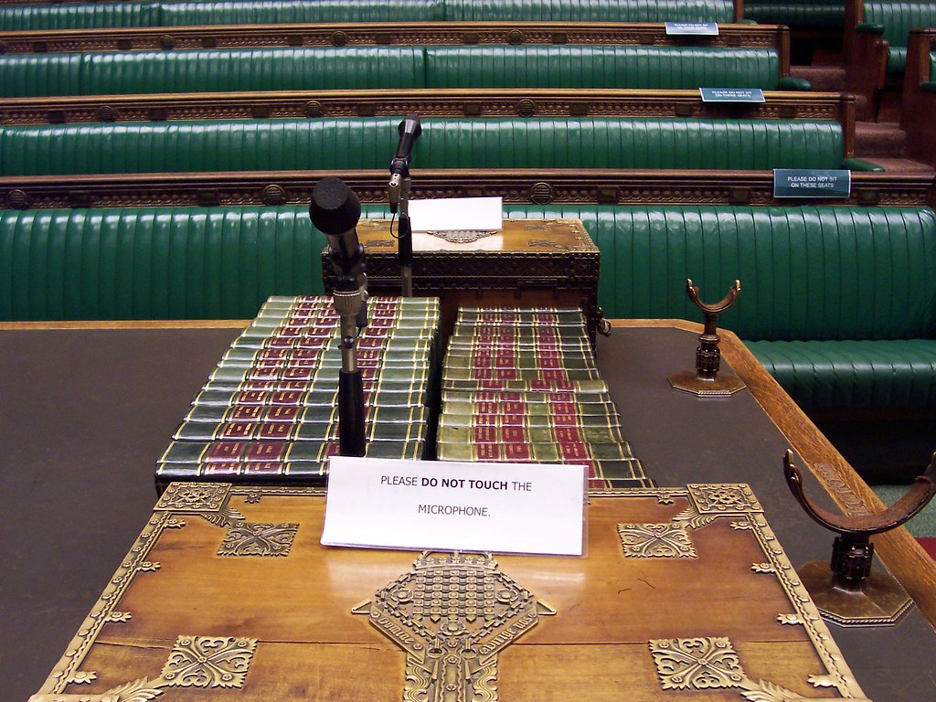 House of commons chamber dispatch box view from the for Dining room d house of commons