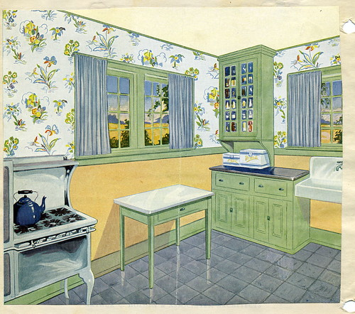 Vintage 1920 kitchen by american vintage home for Kitchen ideas for 1920s house
