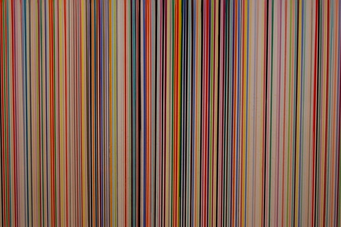 Vertical Lines Art Thing On South Bank Underpass Wall As