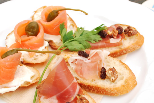 Smoked salmon prosciutto canape flickr photo sharing for Smoked salmon canape