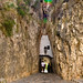 The tunnel which is the only entrance to the fortifed Moorish village of Guadalest in the Costa Blanca