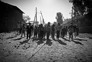children welcomed Jesus by spreading palm in axum, tigray | by anthony pappone photography