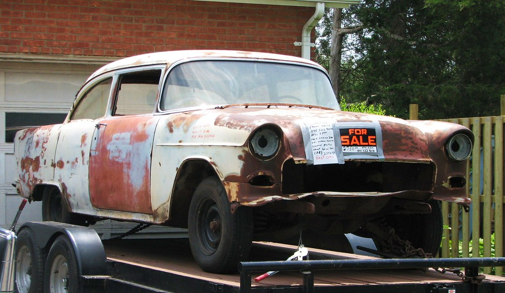 1955 CHEVY FOR SALE IN 2011 | It looks like a good project ...