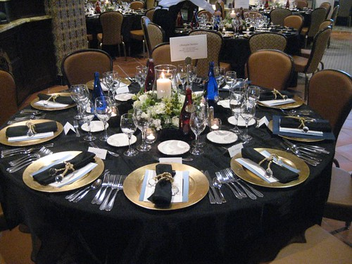 black table settings wedding reception flickr photo sharing. Black Bedroom Furniture Sets. Home Design Ideas