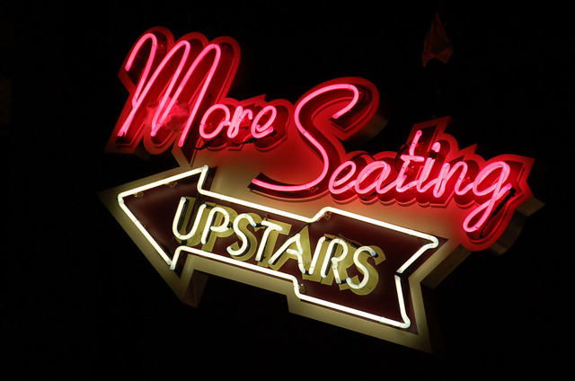 Neon More Seating Upstairs Neon Sign Disney Studio Flickr
