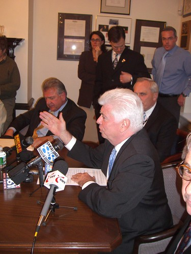 Senator Dodd with local auto dealers | by WNPR - Connecticut Public Radio