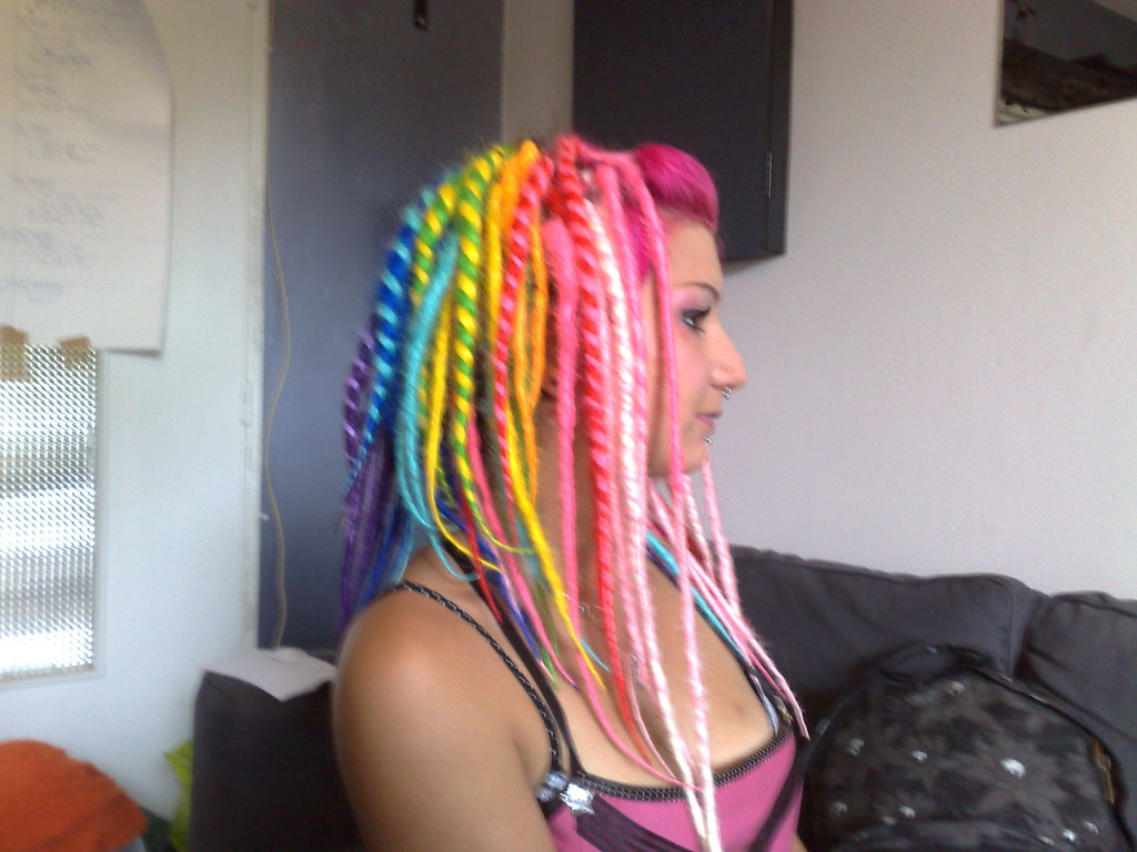 Rainbow dreads | Rainbow dreads on Emy Dreads by