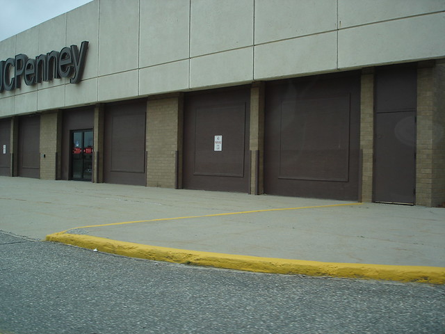 jcpenney auto center a boarded up former jcpenney auto. Black Bedroom Furniture Sets. Home Design Ideas