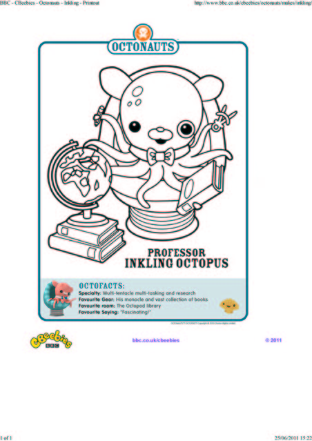 octonauts coloring pages bbc - photo#3