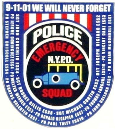 NYPD Emergency Services Unit ESU 9112001 Memorial Logo