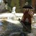Prospector at a Geyser