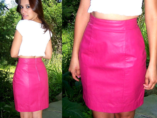 80 S Leather Mini Skirt Shop Www Lolavintage Etsy Com Bl Flickr