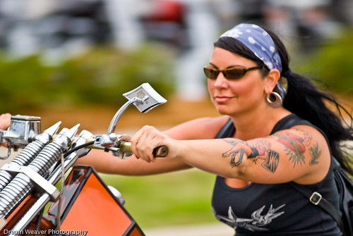 biker babe on a chopper | by Dream Weaver Photography