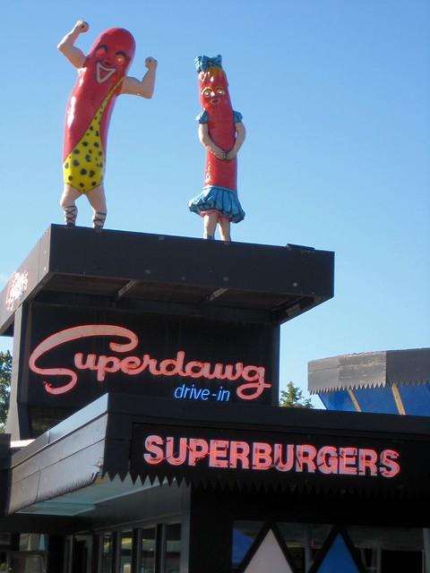 Chicago Superdawg Drive Through Restaurant