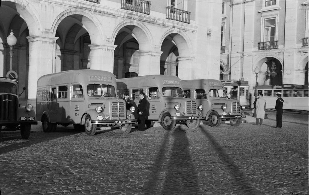 Estação Central de Correios, Terreiro do Paço (F.P.T., post 1953)