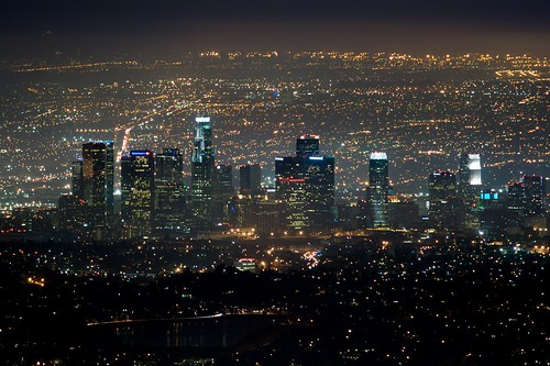 Downtown Los Angeles At Night Flickr Photo Sharing