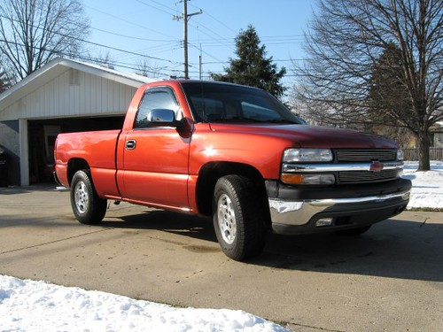 2001 silverado custom orange paint custom grill reg cab