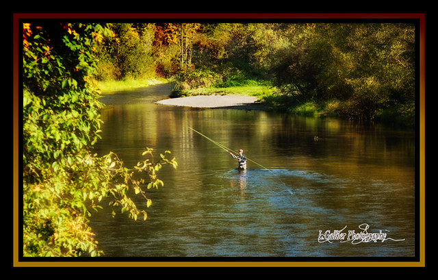 Fishing On The Green Fly Fisherman On The Green River
