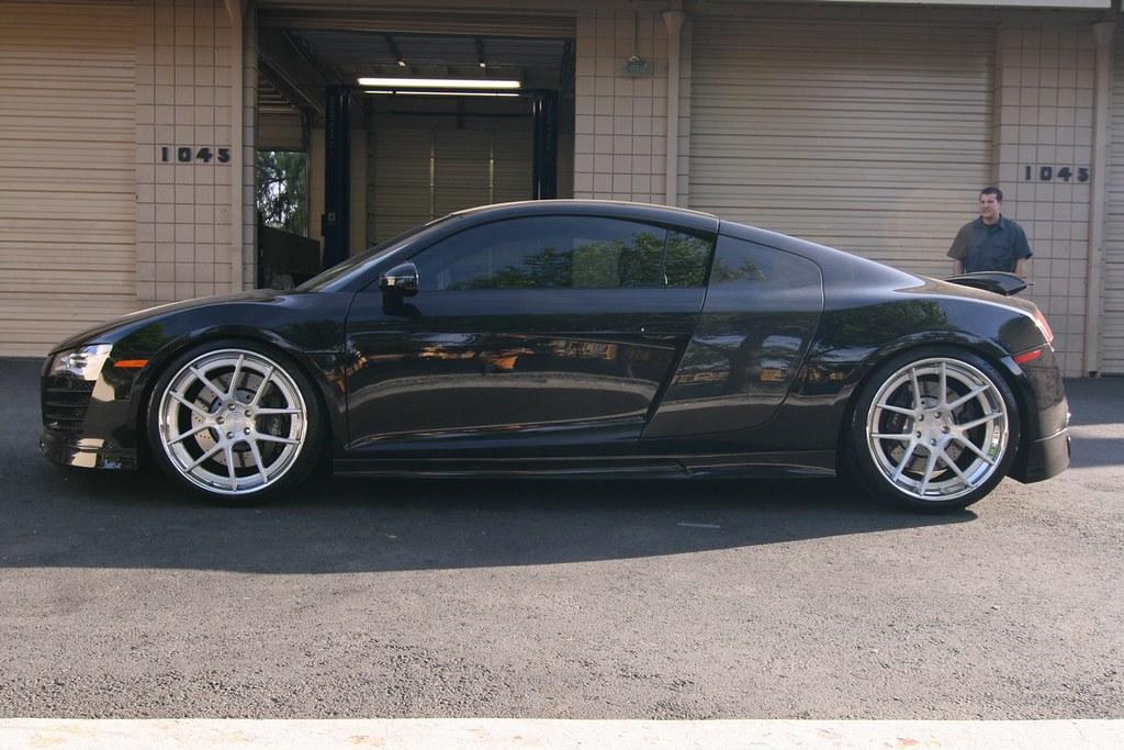 Black Audi R8 With Prior Design Body Kit And Adv1 Wheels