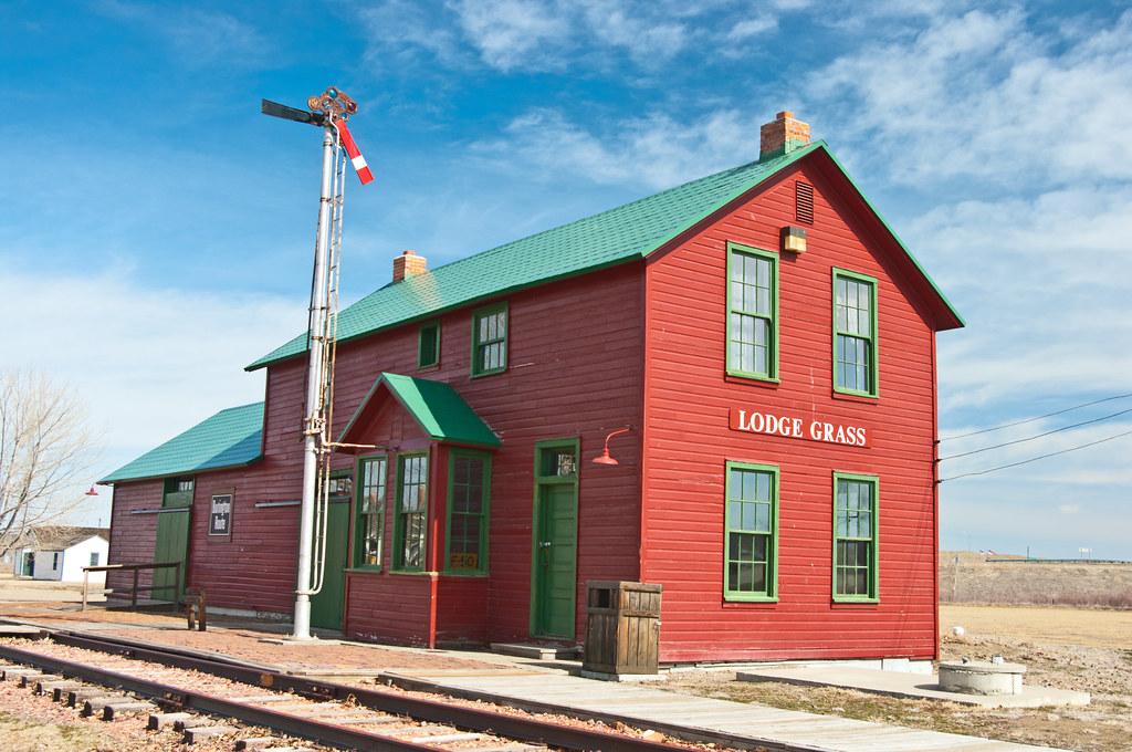 Big Horn >> Lodge Grass, MT train station | Built by the Burlington Rout… | Flickr