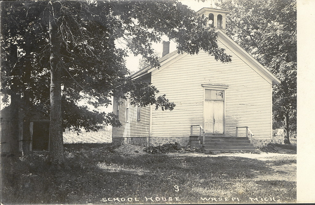 Wasepi MI St Joseph County The Old School House RPPC | Flickr