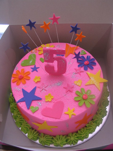 How To Design Cake Using Fondant : Bright funky fondant designs birthday cake Charly s ...
