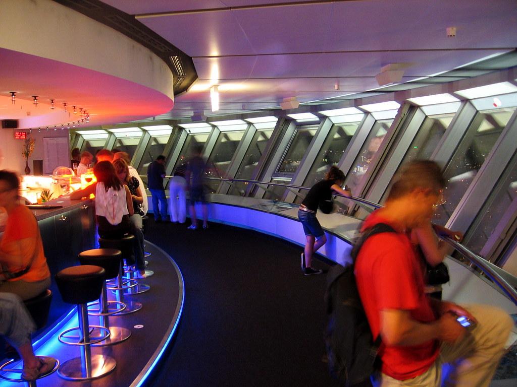 sky bar berlin tv tower bar at the observation deck of ber flickr. Black Bedroom Furniture Sets. Home Design Ideas