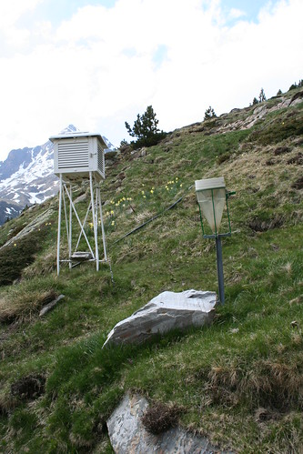 Stevenson Screen and Rain Gauge at Refuge d'Espingo, French Pyrenees | by geographyalltheway.com