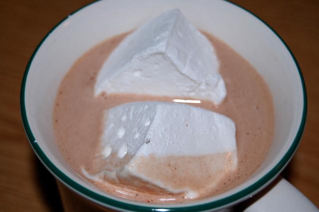 Hot Chocolate Marshmallow Cake