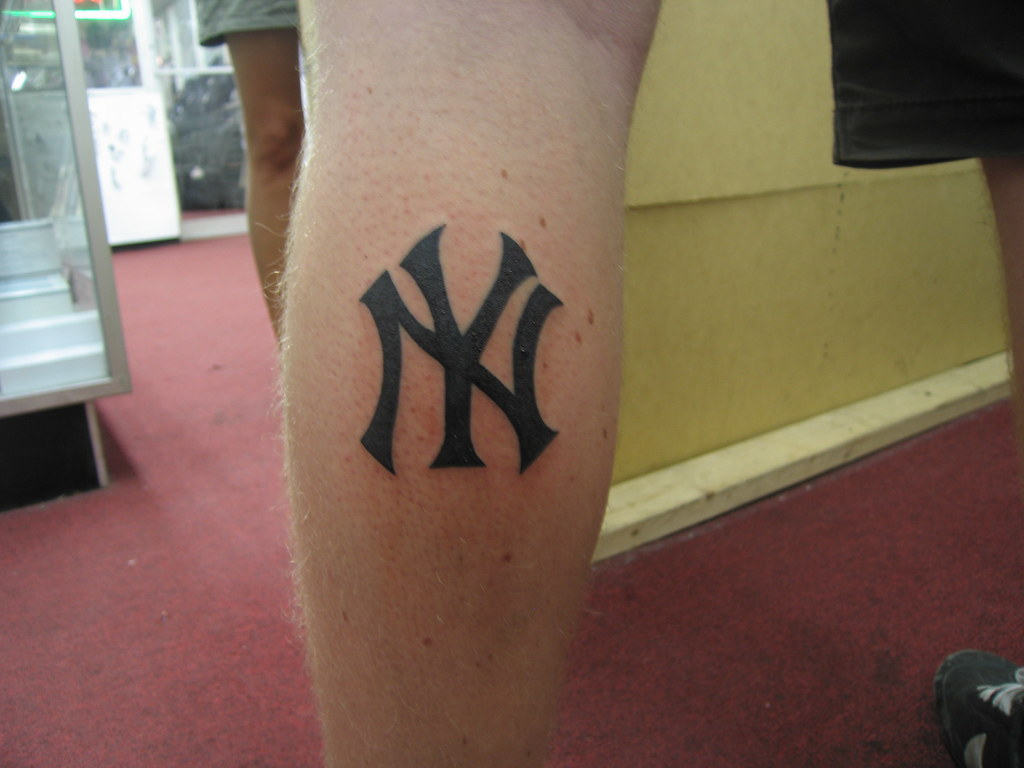Tattoo 64 anders from sweden got a new york yankees for Free tattoos nyc 2017