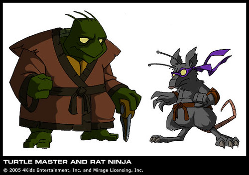 Turtle Master And Rat Ninja From The Planet Dhoonib Cou