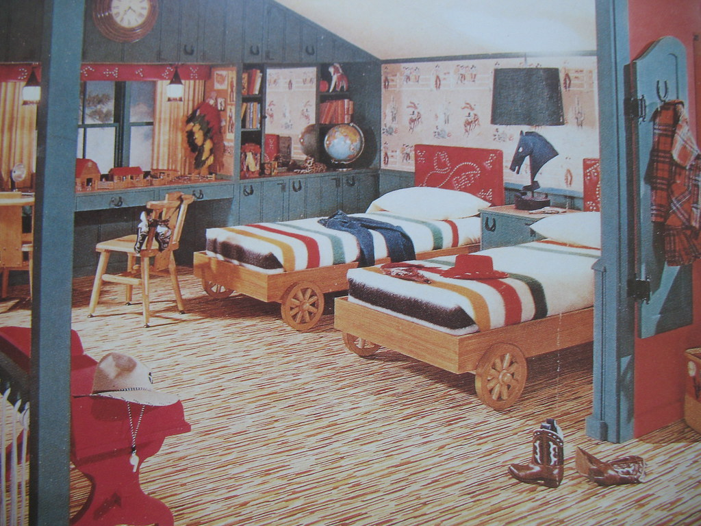 1950s Boy S Cowboy Attic Room Library Fashionista Flickr