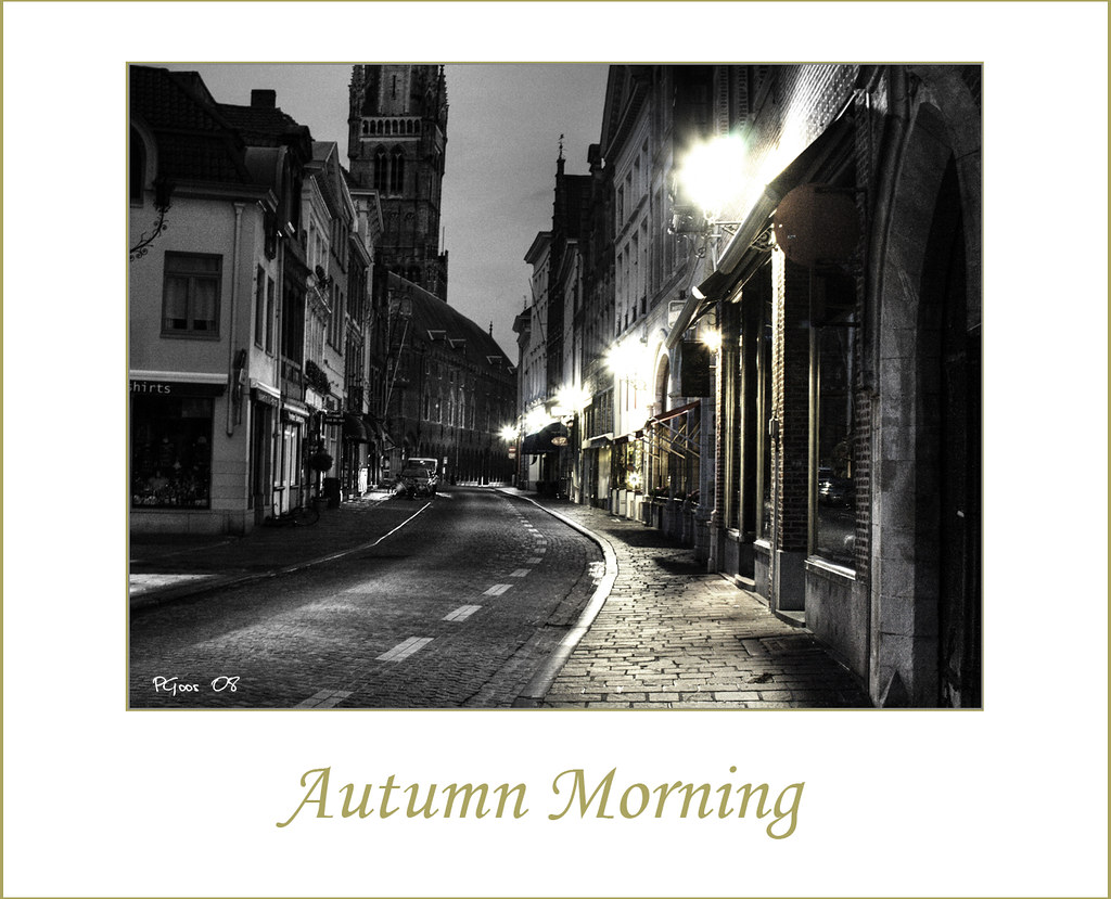 Keukens Goossens Brugge : Autumn morning in Brugge Processed version of a photo I