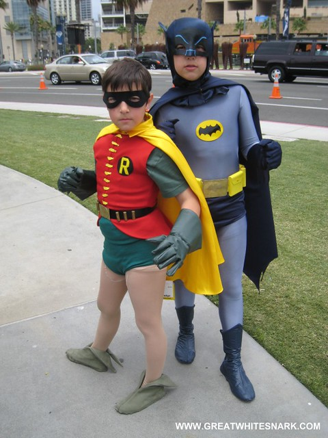Batman and Robin Kids Costumes at Comic-Con 2008 ...