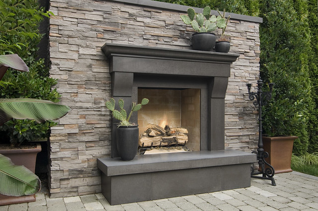 Cornice Cinder Cast Concrete Fireplace Mantel In An Outdoo Flickr