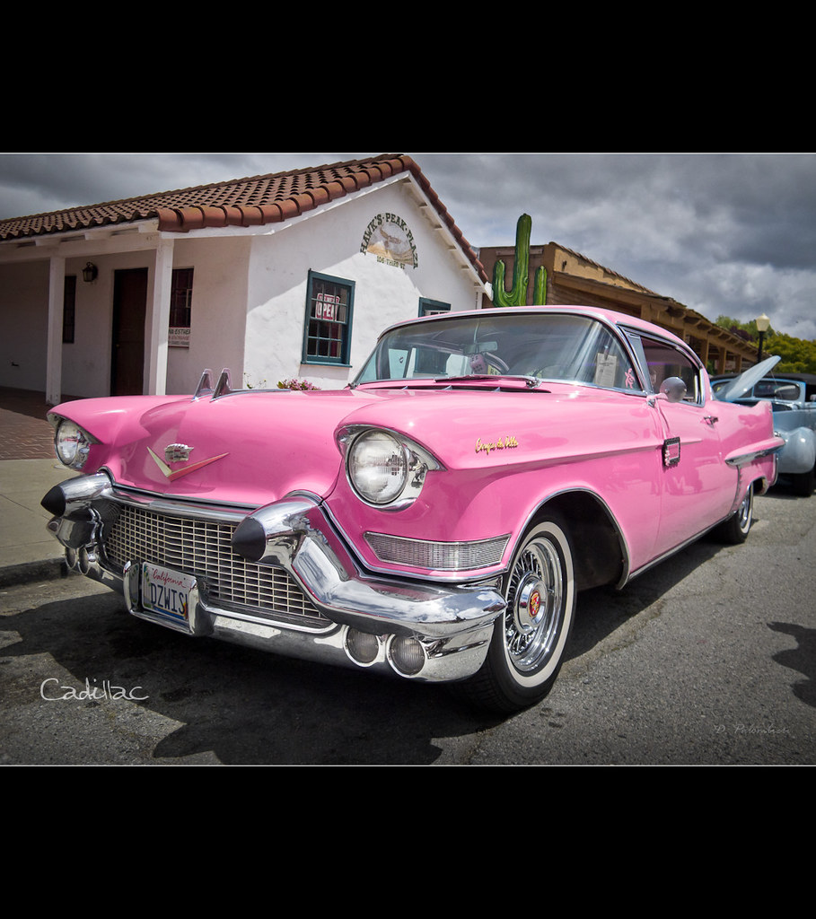 1957 Hot Pink Cadillac Coupe Deville