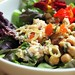 Tuna Chickpea Salad with Olives and Basil