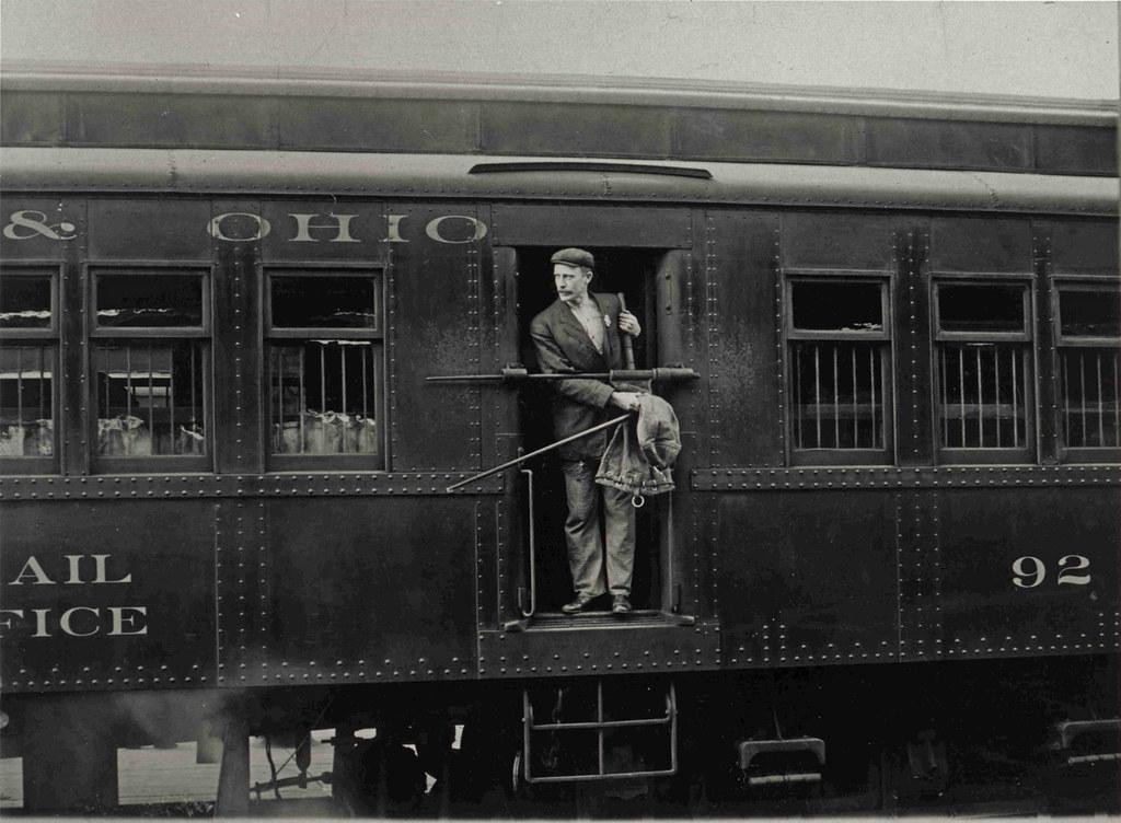 Free Car History Report >> Railway Post Office Clerk in Mail Car | Description: A Railw… | Flickr