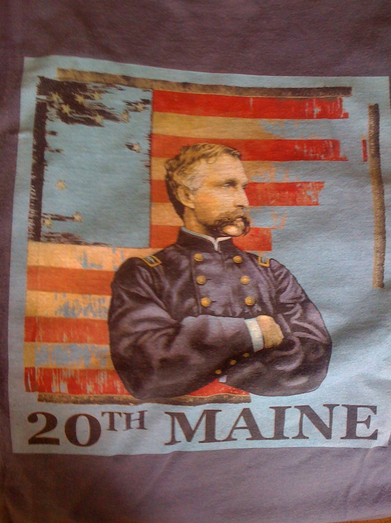 20th Maine | T-shirt with painting of Col. Joshua ...