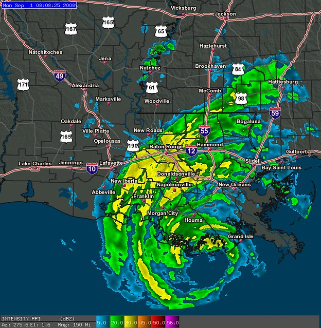 Gustav WAFB WAFB TV Baton Rouge Doppler Radar At 830AM 9