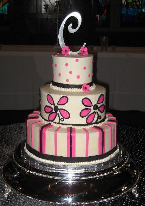 hot pink wedding cake ideas pink and black wedding cake cakegirlkc flickr 15341