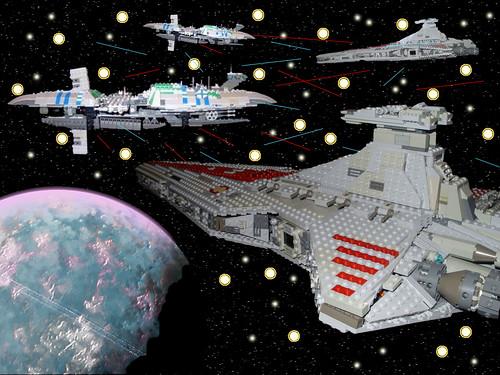 Lego star wars space battle flickr photo sharing - Croiseur star wars lego ...