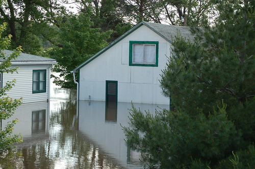 Flooding of a house | by U.S. Geological Survey