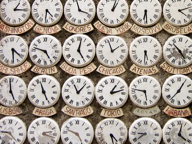 Horas en diferentes capitales