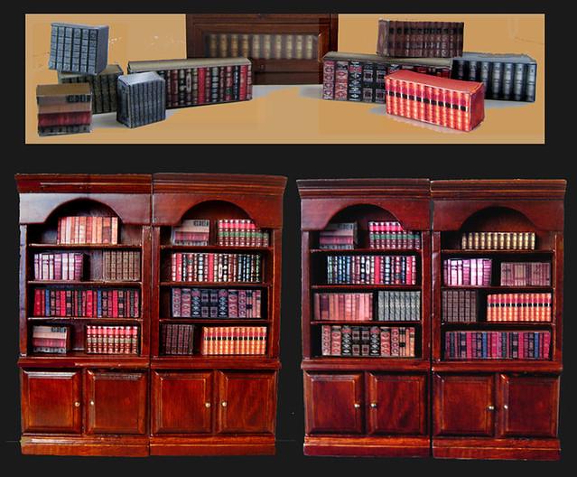 miniature book  u0026quot fillers u0026quot   dollhouse  1  12 scale